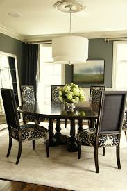 patterned dining chairs dining room traditional with beige dining