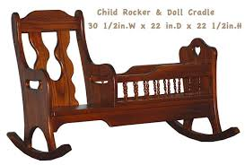 this amish child handmade rocker and doll cradle all hardwood is