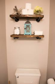 the powder bathroom how to make industrial floating shelves the
