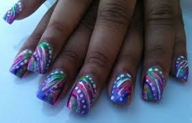 day 25 black light neon nail art nails magazine