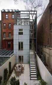 Nyc Backyard Ideas Smart New York City Townhouse Renovation Breezy Modern Design