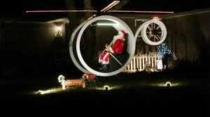 Holographic Christmas Window Decorations by Designers Of Christmas Displays Add Hologram Helicopter Ralphie