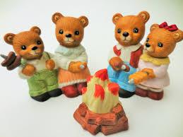 homco bears bear family home interior vintage porcelain bears