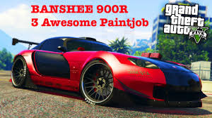 gta 5 online 3 awesome paint job colours for bravado banshee 900r