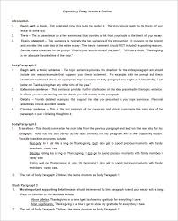 Paragraph About Thanksgiving Essay Outline Template U2013 10 Free Free Word Pdf Format Download
