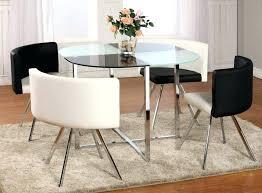 glass breakfast table set dining room black glass table and chairs white and glass dining