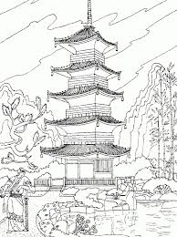 landscape coloring pages adults coloring pages fall scenery