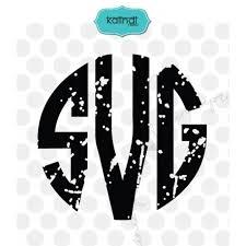 monogramed letters grunge monogram letters svg distressed svg grunge svg