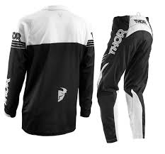 motocross jersey and pants combo thor s16 phase motocross pants u0026 jersey combo black white