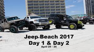 jeep beach jeep beach 2017 day 1 u0026 2 youtube