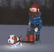 lighted dog christmas lawn ornament yukon cornelius dog sled lighted display 60515 free shipping on
