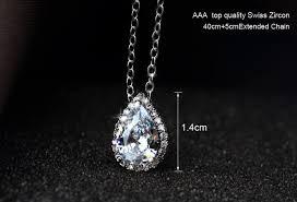 drop shaped necklace images Ellangelcollection fine jewelry collection 18k platinum plated png