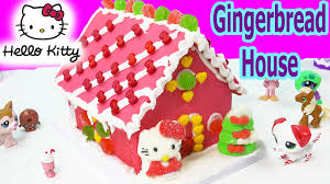 hello kitty holiday candy pink gingerbread cookie house making kit