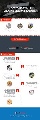 how to use kitchen knives how to use your kitchen knives properly infographic
