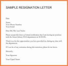 7 short notice resignation letter sample notice letter