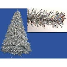 silver tinsel christmas tree silver christmas trees for less overstock