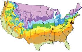 Gardening Zones Usa Map - us shipping zones map