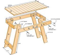 Folding Picnic Table Plans Brilliant Wood Folding Table Plans Woodworking Plans Folding