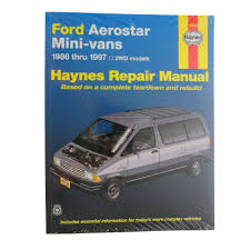 28 97 ford aerostar owners manual 92289 shop manual