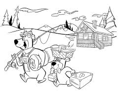 coloring pages of yogi bear free coloring pages yogi bear and boo boo coloring pages free for kids