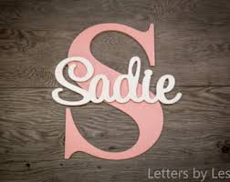 baby plaques personalized nursery name sign capital letter baby name plaque personalized