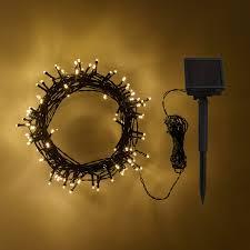 100 warm white led solar lights lights4fun co uk
