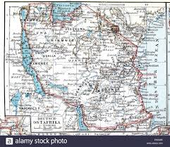Map Of East Africa by Map Of The Former German Colony Of East Africa Meyers Stock Photo