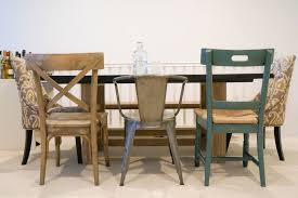 old style of dining chairs and table in traditional dining room