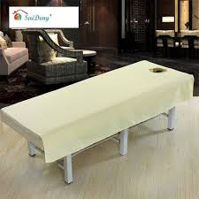 massage table with hole saideng cotton waterproof massage table cloth bed cover sheet beauty