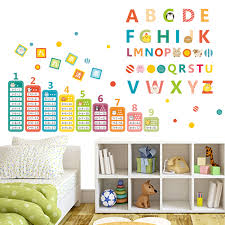 aliexpress com buy children teaching tools animals english aliexpress com buy children teaching tools animals english alphabet nine multiplication tables kids room nursery wall sticker home decor decal from