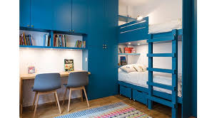 chambre enfant espace chambre d enfants des lits superposés et un espace à partager