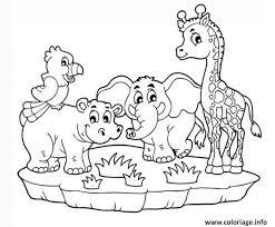 Coloriage animaux maternelle de la jungle  JeColoriecom