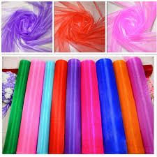 Diy Chair Sashes 50m Lot 1 5m Wide Sheer Crystal Organza Fabric For Table Runner