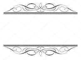 calligraphy vignette ornamental penmanship decorative frame