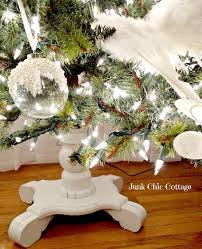 junk chic cottage christmas tree stand inspiration