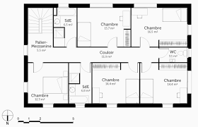 plan plain pied 5 chambres plan maison familiale plain pied luxe plan de maison a etage 5