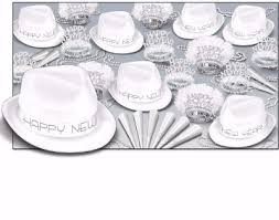 new year s noisemakers bulk black white new year s theme party kits that include hats