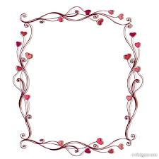 4 designer heart shaped border 02 vector material