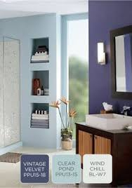 this light blue paint color in behr clear pond is perfect for