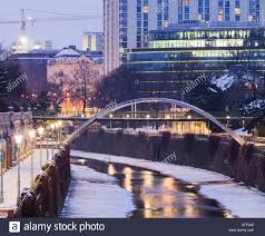 the hilton hotel at the wien river in winter 3 bezirk vienna
