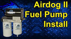 airdog ii 165 fuel pump install duramax lml a5sabc110 youtube