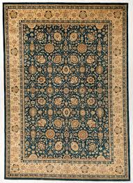 Blue Wool Rug Traditional Ziegler Oriental Wool Rug With Borders Navy Blue And