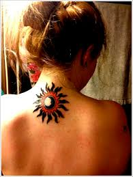 3d sun designs for on back moon and sun tattoos sun