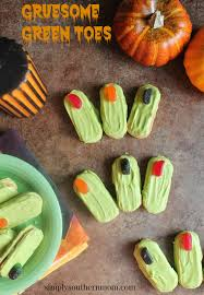 gruesome green toes easy halloween recipe simply southern mom