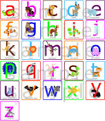 Alphabet Wall Decals For Nursery Lowercase Abcs Alphabets Nursery Wall Decal With Animals Lowercase