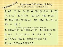 19 equations problem solving