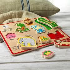 wooden puzzle dear zoo wooden puzzle tray jojo maman bebe