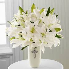 Flowers Delivered With Vase The Ftd Faithful Blessings Bouquet Vase Included