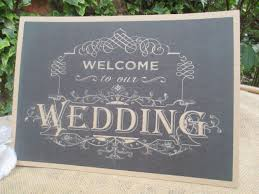 to our wedding sign chalkboard style a4 size poster shabby chic