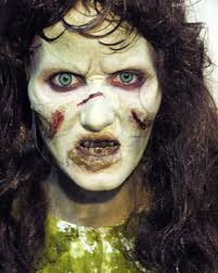 me as regan from the exorcist how d i do creepy the halloween